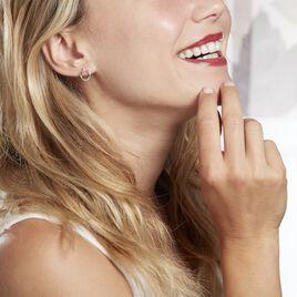 Boucles D'oreilles Humbertina Or Blanc Diamant - Clous d'oreilles Femme   Histoire d'Or
