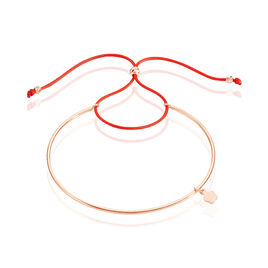 Bracelet Jonc Live Argent Rose - Bracelets cordon Femme | Histoire d'Or