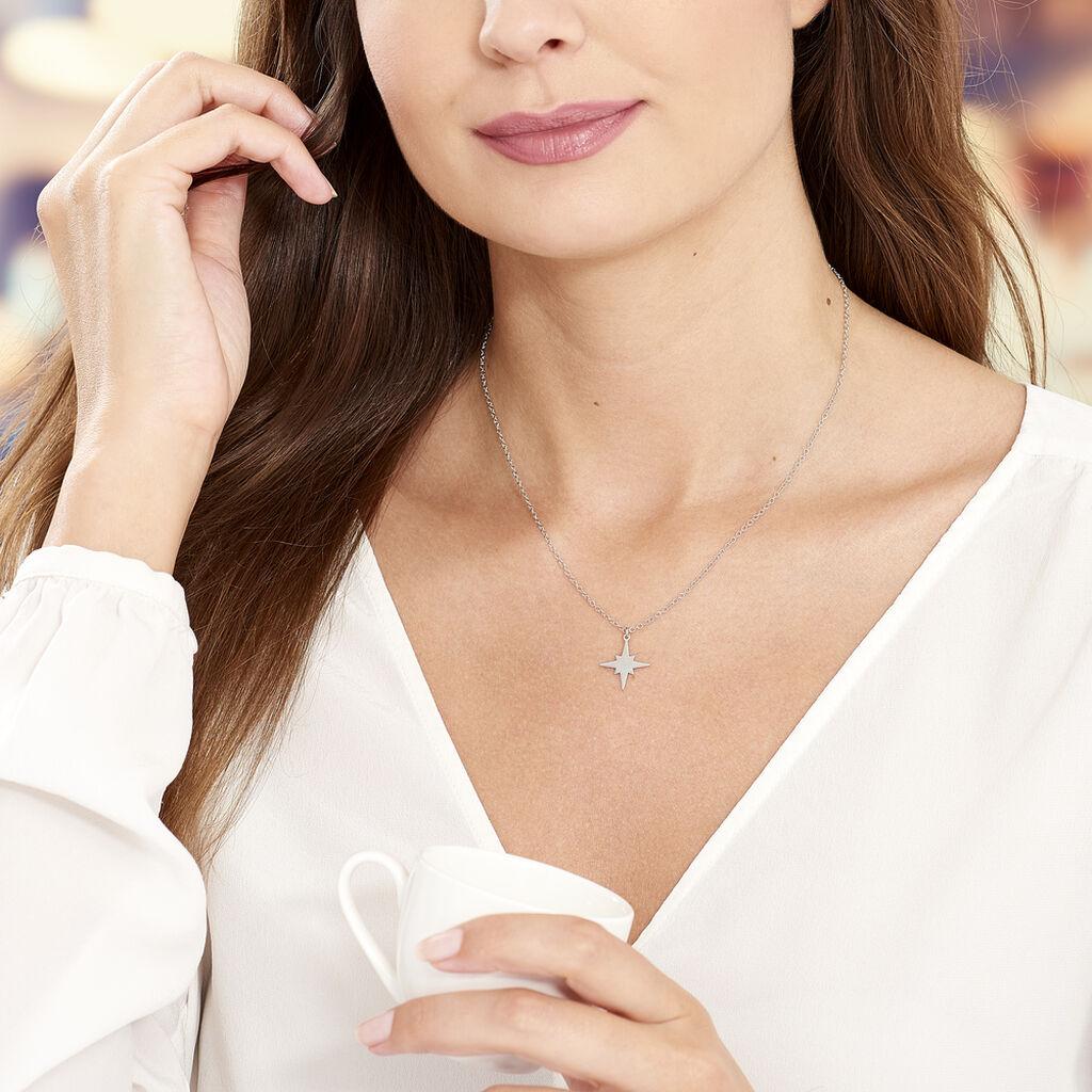 Collier Wiem Argent Blanc - Colliers Etoile Femme   Histoire d'Or