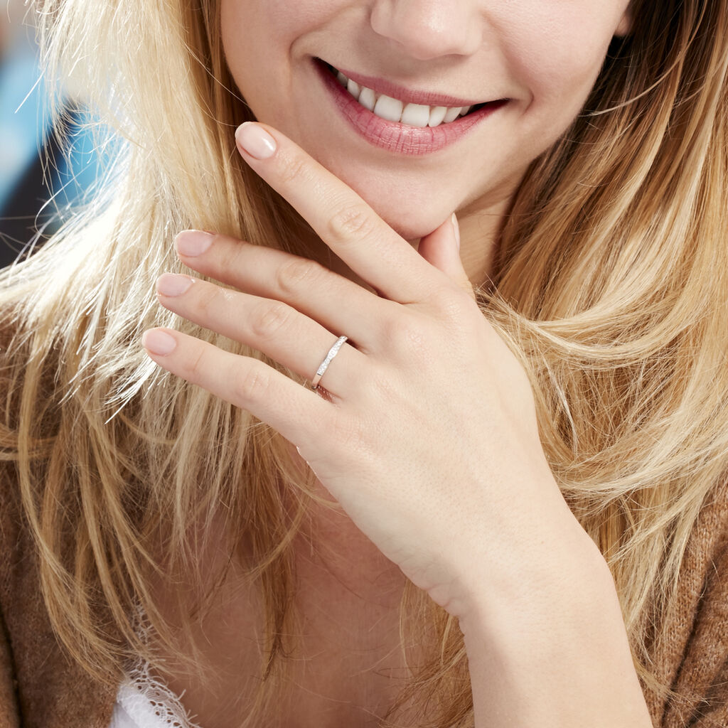Alliance Valentina Or Blanc Diamant - Alliances Femme | Histoire d'Or