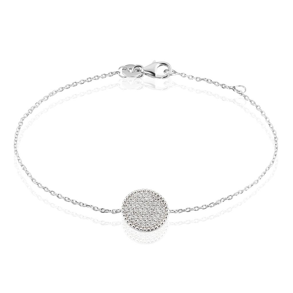 Bracelet Ulrik Argent Blanc Oxyde De Zirconium - Bracelets fantaisie Femme   Histoire d'Or