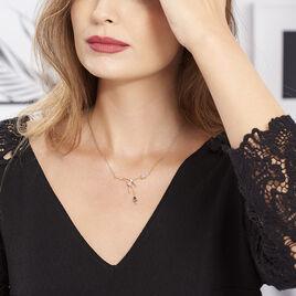 Collier Bertrane Plaque Or Jaune Oxyde De Zirconium - Bijoux Femme | Histoire d'Or