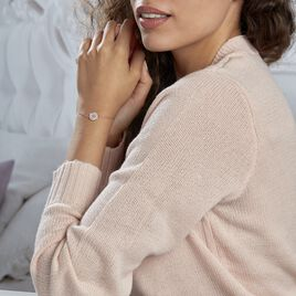 Bracelet Alexine Argent Rose Oxyde De Zirconium - Bijoux Etoile Femme   Histoire d'Or