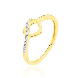 Bague Or Jaune Coeur Et Diamants - Bagues Coeur Femme | Histoire d'Or