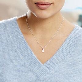 Collier Idylla Argent Blanc Oxyde De Zirconium - Colliers fantaisie Femme | Histoire d'Or