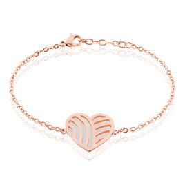 Bracelet Aniliane Acier Bicolore - Bracelets Coeur Femme | Histoire d'Or