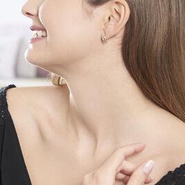 Boucles D'oreilles Puces Bathilde Or Jaune Diamant - Clous d'oreilles Femme   Histoire d'Or