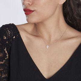 Collier Myrose Argent Blanc Oxyde De Zirconium - Colliers fantaisie Femme   Histoire d'Or