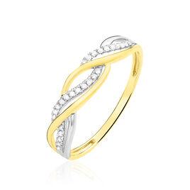 Bague Romane Or Jaune Diamant - Bagues avec pierre Femme | Histoire d'Or