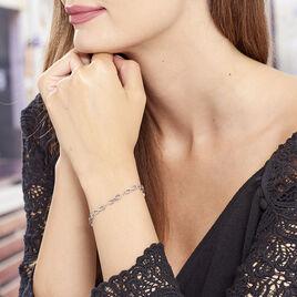 Bracelet Daphne Acier Blanc - Bracelets Infini Femme | Histoire d'Or