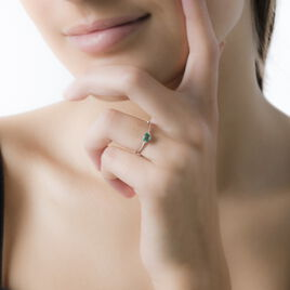 Bague Lily-jeanne Or Blanc Emeraude - Bagues solitaires Femme | Histoire d'Or
