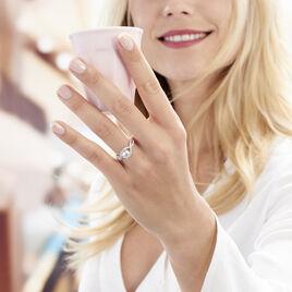 Bague Solitaire Anette Or Blanc Oxyde De Zirconium - Bagues avec pierre Femme | Histoire d'Or