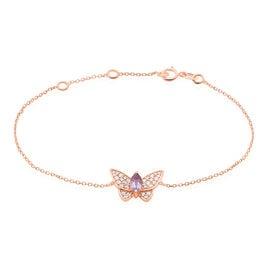 Bracelet Or Rose Madina Motif Papillon - Bracelets Papillon Femme | Histoire d'Or