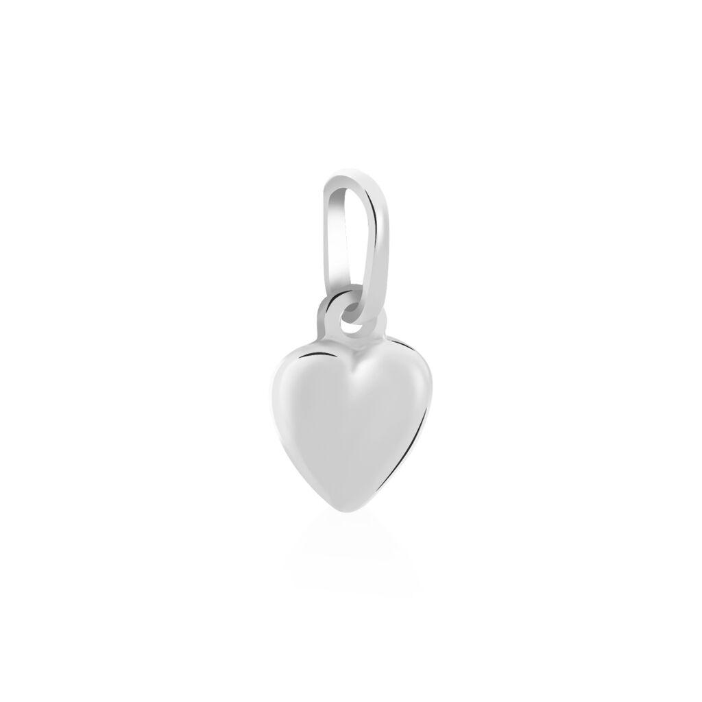 Pendentif Eudocie Coeur Lisse Or Blanc - Pendentifs Coeur Unisexe | Histoire d'Or