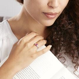 Bague Solitaire Candice Or Blanc Rubis - Bagues solitaires Femme | Histoire d'Or