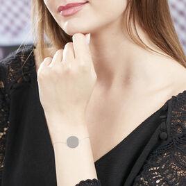Bracelet Pastille Gravable Or Blanc - Bijoux Femme | Histoire d'Or