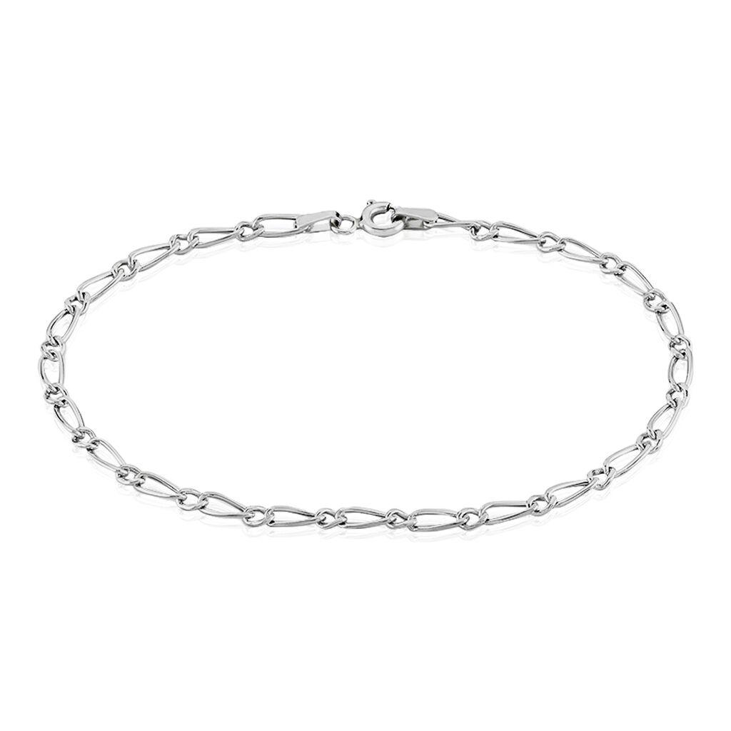 Bracelet Ophelio Maille Alternee 1/1 Or Blanc - Bracelets chaîne Femme   Histoire d'Or
