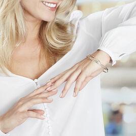 Bracelet Jonc Catalin 3 Fils Entrelaces Or Tricolore - Bracelets joncs Femme | Histoire d'Or