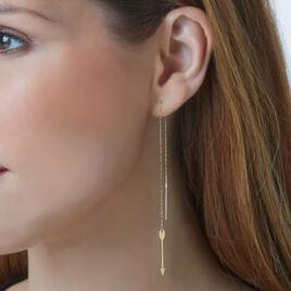 Boucles D'oreilles Pendantes Or Bicolore - Boucles d'oreilles pendantes Femme   Histoire d'Or