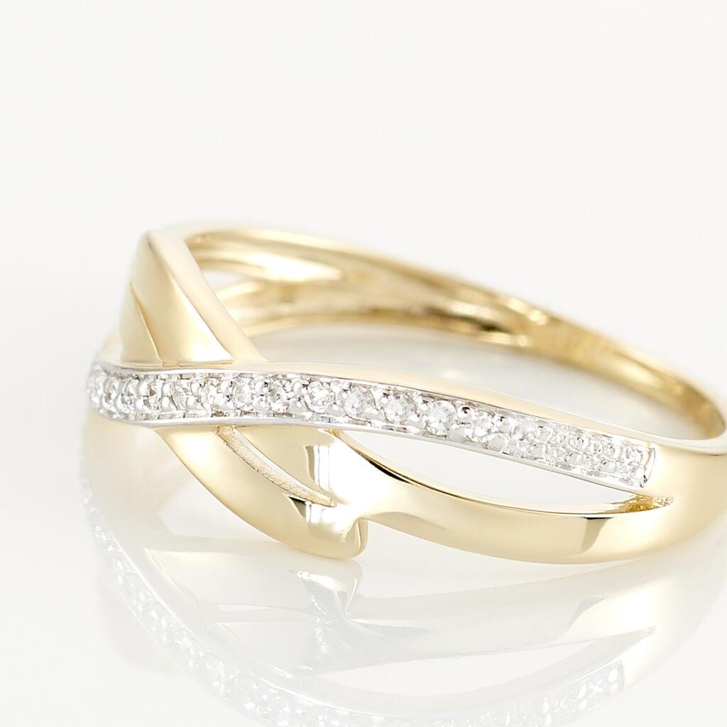 Bague Seraphia Or Jaune Diamant - Bagues avec pierre Femme   Histoire d'Or