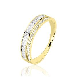 Bague Constance Or Jaune Diamant - Bagues Coeur Femme   Histoire d'Or