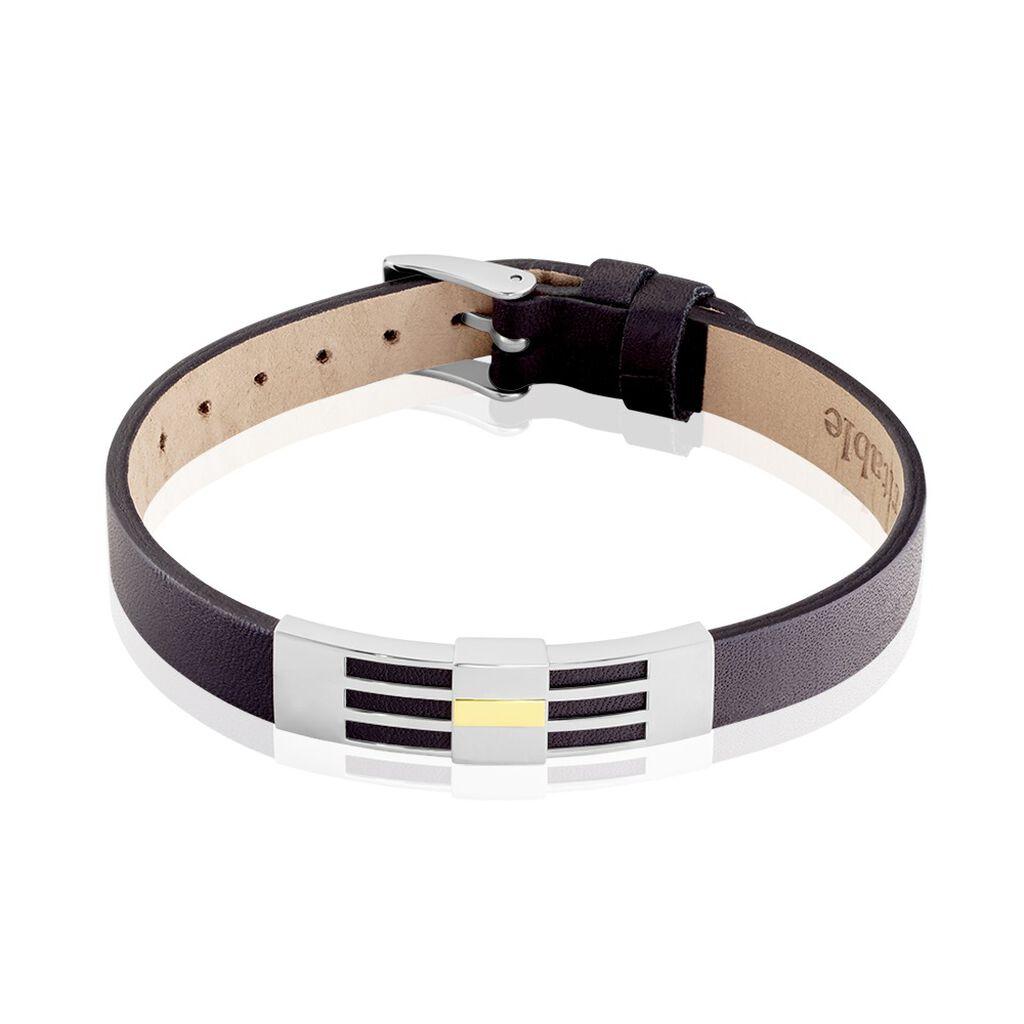 Bracelet Komalae Or Acier Bicolore - Bracelets fantaisie Homme   Histoire d'Or
