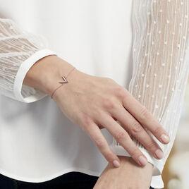 Bracelet Nollia Argent Rose Oxyde De Zirconium - Bracelets fantaisie Femme | Histoire d'Or