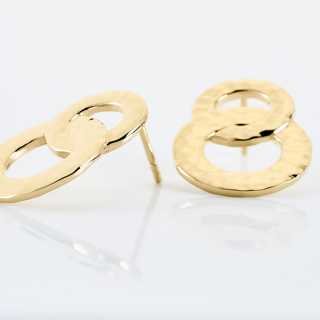 Boucles D'oreilles Pendantes Dolie Plaque Or Jaune - Boucles d'oreilles fantaisie Femme | Histoire d'Or