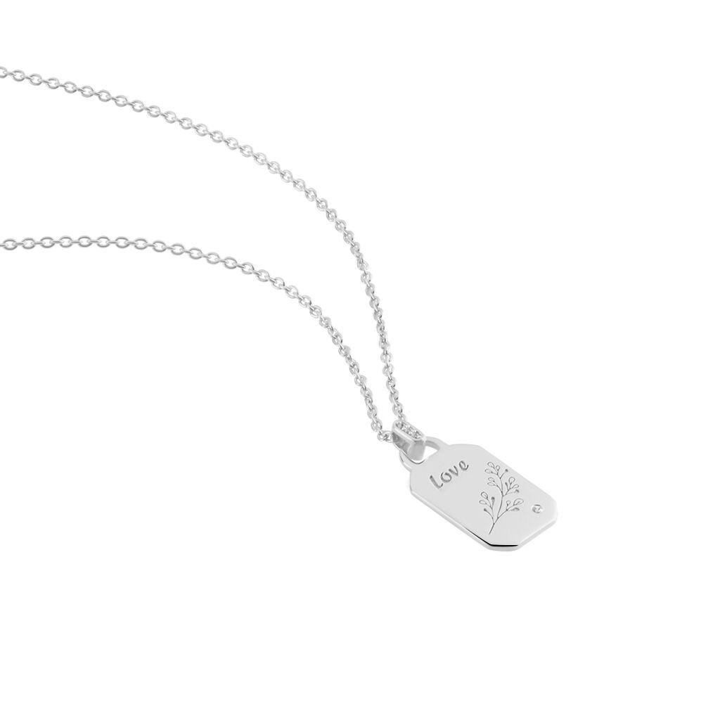 Collier Lenus Argent Rhodié Oxydes De Zirconium - Colliers fantaisie Femme | Histoire d'Or