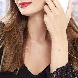 Bracelet Terry Or Jaune Calcedoine Et Oxyde De Zirconium - Bijoux Etoile Femme | Histoire d'Or