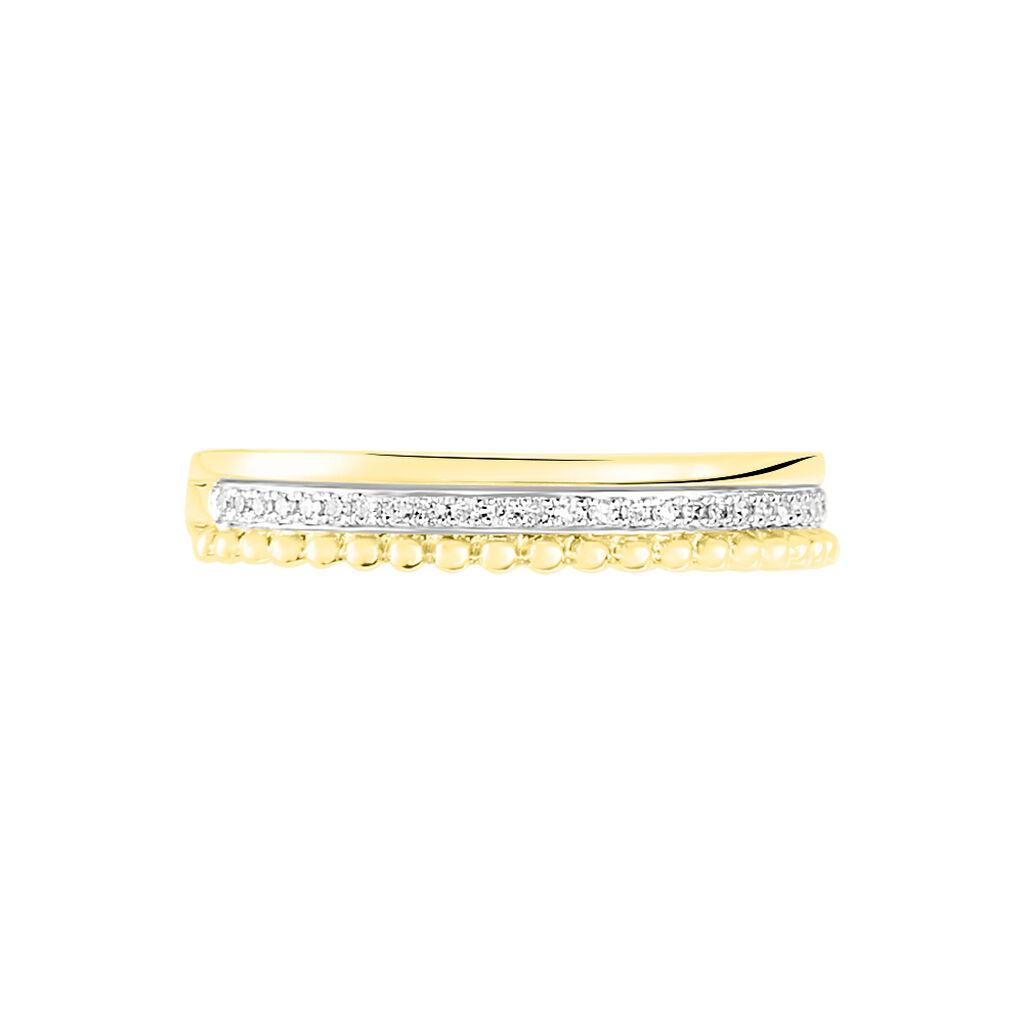 Bague Marcianne Or Jaune Diamant - Bagues avec pierre Femme | Histoire d'Or