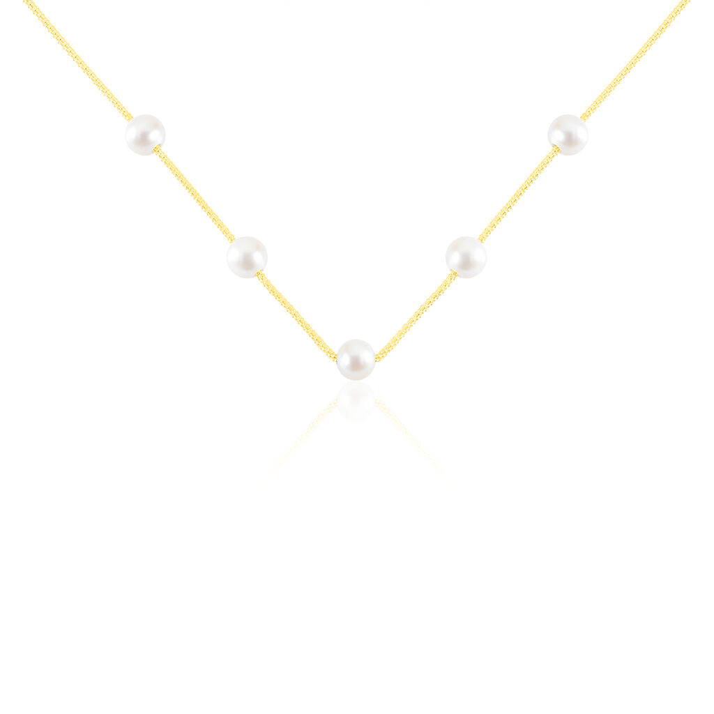 Collier Friea Or Jaune Perle De Culture - Bijoux Femme | Histoire d'Or