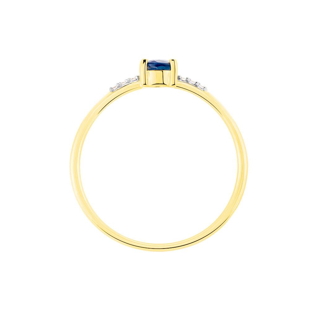 Bague Jehane Or Jaune Saphir Et Diamant - Bagues avec pierre Femme | Histoire d'Or