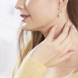 Boucles D'oreilles Pendantes Ballia Argent Rose Oxyde De Zirconium - Boucles d'oreilles fantaisie Femme | Histoire d'Or