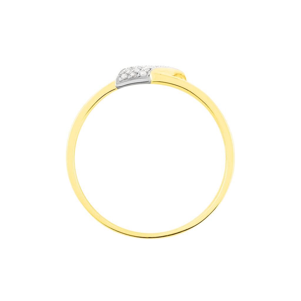 Bague Aurelianne Or Tricolore Diamant - Bagues avec pierre Femme | Histoire d'Or