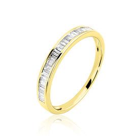 Bague Clemence Or Jaune Diamant - Bagues avec pierre Femme   Histoire d'Or