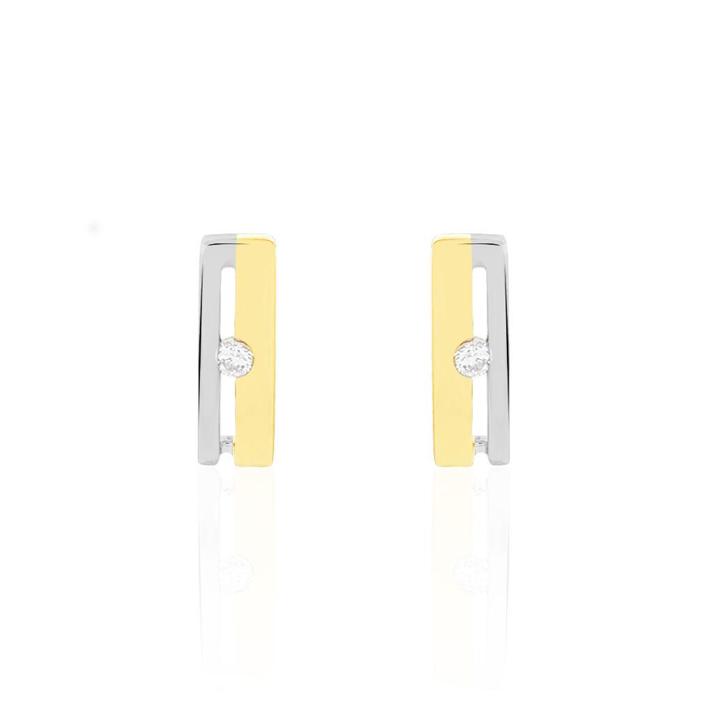 Boucles D'oreilles Lola Or Bicolore Diamant - Boucles d'oreilles pendantes Femme | Histoire d'Or