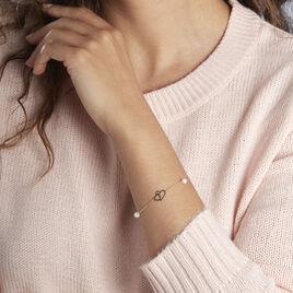 Bracelet Cenzo Or Jaune Perles De Culture - Bracelets Coeur Femme | Histoire d'Or
