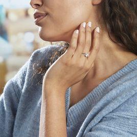 Bague Coronille Or Blanc Oxyde - Bagues avec pierre Femme | Histoire d'Or