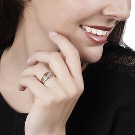 Bague Paige Or Bicolore Diamant - Bagues avec pierre Femme   Histoire d'Or