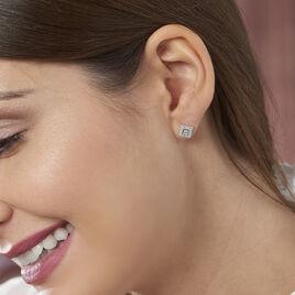 Boucles D'oreilles Argent Julie Puce Oxyde - Boucles d'oreilles fantaisie Femme | Histoire d'Or