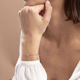 Bracelet Nollia Argent Rose Oxyde De Zirconium - Bracelets fantaisie Femme   Histoire d'Or