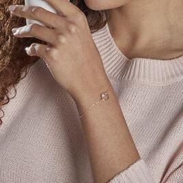 Bracelet Or Jaune Ajuga - Bracelets Coeur Femme   Histoire d'Or