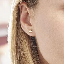Boucles D'oreilles Puces Berangere Cercle 4 Or Jaune - Clous d'oreilles Femme | Histoire d'Or