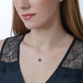 Collier Or Blanc Saphir Diamant - Bijoux Femme | Histoire d'Or