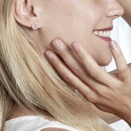 Boucles D'oreilles Puces Grâces Argent Blanc Oxyde De Zirconium - Boucles d'oreilles fantaisie Femme   Histoire d'Or