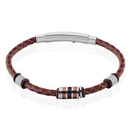 Bracelet Arjin Acier Tricolore - Bracelets fantaisie Homme | Histoire d'Or