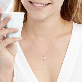 Collier Sarida Argent Rose Oxyde De Zirconium - Colliers Etoile Femme | Histoire d'Or