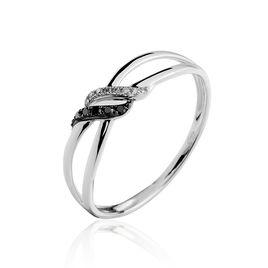 Bague Aline Or Blanc Diamant - Bagues avec pierre Femme   Histoire d'Or
