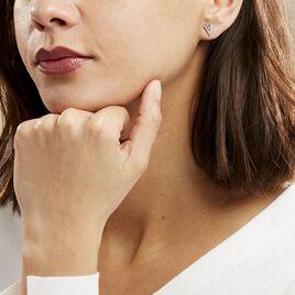 Boucles D'oreilles Puces Guenolee Argent Blanc Oxyde De Zirconium - Boucles d'oreilles fantaisie Femme | Histoire d'Or